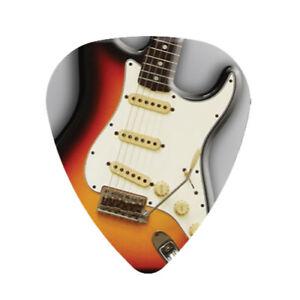 12-FENDER-Stratocaster-Guitar-Picks-Medium-Celluloid-Strat-Pick-FREE-Shipping