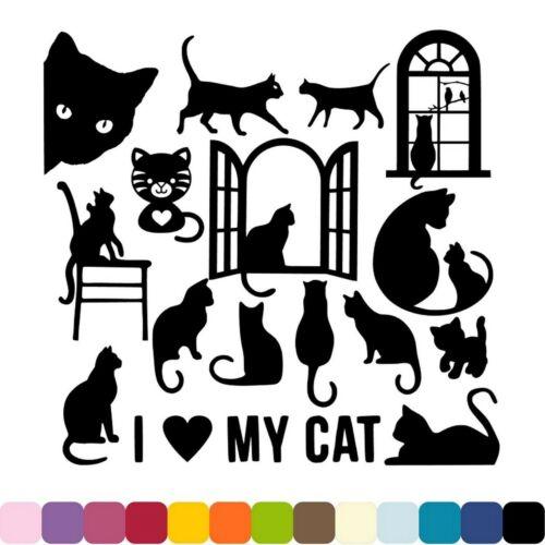 Découpes en papier /_ LOVE MY CAT CHATS /_ Lots au choix /_ Die cut scrap carterie