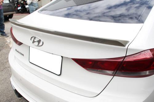 Unpaint OE Type Trunk Spoiler Wing 2018 For Hyundai Elantra AD 6th SE GL L Sedan