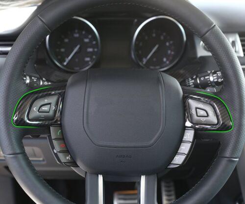 2* Kohlefaser-Stil Lenkrad Taste Rahmen Für Range Rover Evoque 2011-2017