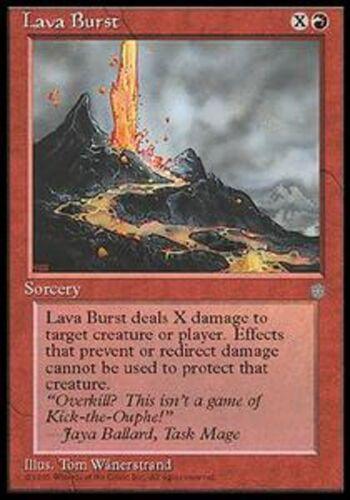 *MRM* ENGLISH 4x Explosion de lave Lava Burst MTG Ice age