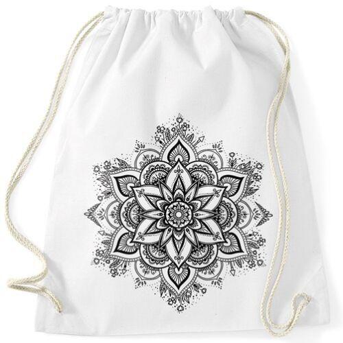 Turnbeutel Mandala Ornament Bohemian Boho Ethno Hipster Beutel Tasche Gymsac
