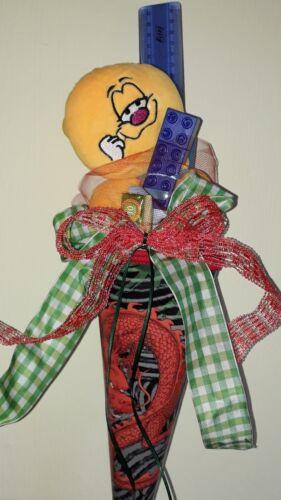 Schultüte gefüllt*alles fertig zum Schulanfang*Zuckertüte nach Wahl 35 cm