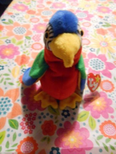 TY Beanie Baby JABBER The Parrot RARE COLLECTABLE With ERRORS MINT Condition