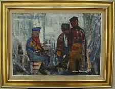 Anker Landberg 1916-1973, Fischer im Gespräch, datiert 1963