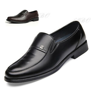 Mens-Business-Dress-Formal-Slip-On-Leather-Shoes-Driving-Oxford-Moccasin-Loafers