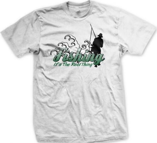 Fishing it's the Reel Thing Pun Parody Funny Humor Joke Gag Mens T-shirt