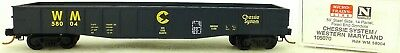 Active Micro Trains Line 105070 Chessie System Wm 50' Góndola Fixed End 1:160 Emb.orig Good Taste N Scale