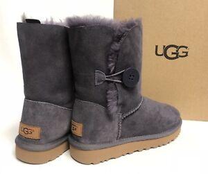 4ad7a36b79a Details about UGG Australia Bailey Button II Nightfall Purple Sheepskin  Boot Women's 1016226