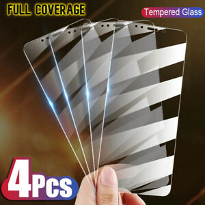 For iPhone 12 11 Pro Max X XR XS Max 8 7 6 Tempered GLASS Screen Protector 4PACK
