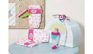 BABY-born-Doll-Accessories-Set-nappies-dummy-with-clip-on-chain-and-baby-bottle