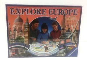 Vintage-1992-Ravensburger-EXPLORE-EUROPE-Board-Game-Brand-New-amp-Sealed