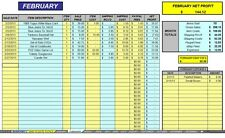 ebay 12 month auction accounting sales profit expense excel spreadsheet cdrom
