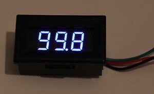 MODULE VOLTMETRE DIGITAL 3 DIGITS LED BLEU 0-100 V