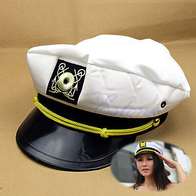 Yacht Sea Captain Hat Skipper Sailor Boat General Cap Costume New