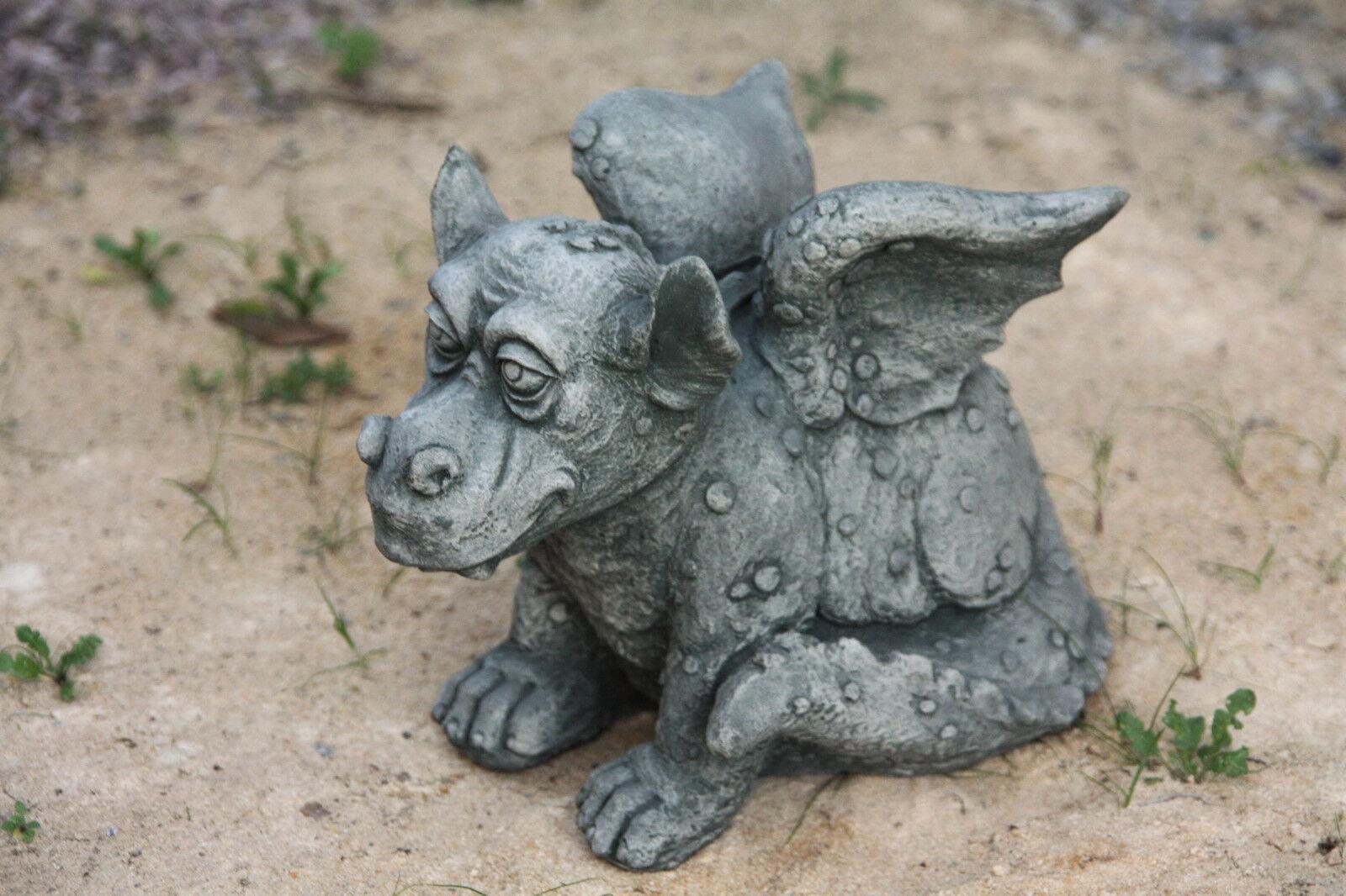 Dragón sentado gracioso diverdeido personaje de piedra fundición Frost Festival piedra personaje nuevo de-588
