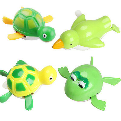New Cute Wind up Bath Diver Plastic Toy Swimming Baby Kids Bath Toys