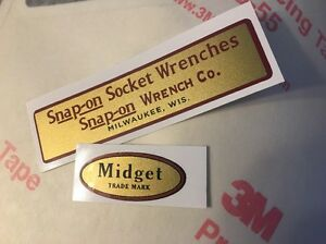 Snap-on-Socket-Wrenches-Decals-restore-Midget-tool-boxes-vintage-rat-rod-Set-2