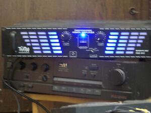 PMPO 2x1200Watt Stereo PA-Verstärker Endstufe Nightline Pro 800 schwarz McTaatoo