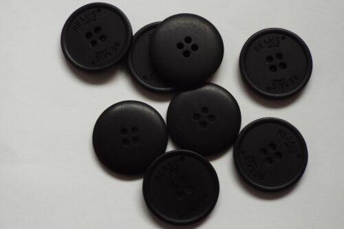 8pc 26mm matt black remus costume manteau veste cardigan enfants tricot bouton 0709