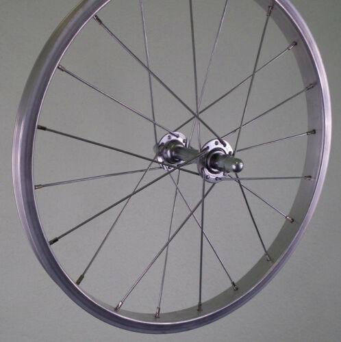 silber Kastenfelge für Kinderrad 355-19 18 Zoll Vorderrad Alu V-Brake