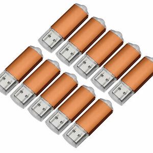 10x 1G 2G 4G 8G 16G USB Flash Drive Rectangle Metal USB2.0 Drive Thumb stick Red