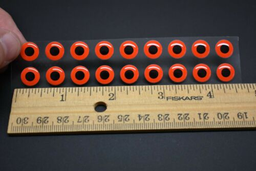 """18  FLUORESCENT RED  3D Soft Molded 10mm .3937/"""" Adhesive Eyes Fly Tying Lures"""