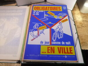 Affiche-Serigraphie-Prevention-securite-70-039-s-AINF-RARE-securite-routiere