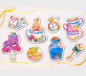 Lovely Kawaii Candy Flake Sticker 48 Sweets Lollipop Girl Heart Kids Q-lia JAPAN