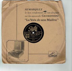 78T-25cm-Andre-BAUGE-Disk-Phonograph-Sung-GARDEN-SOUVENIR-PATHE-3491-RARE