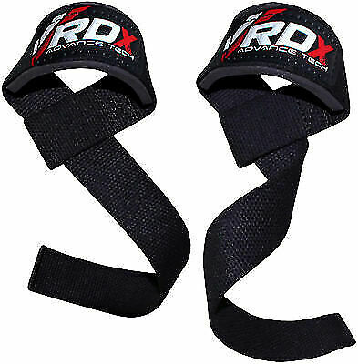 Wyox Power Lifting Bar Straps With Wrist Support Weightlifting Gel padded Strap