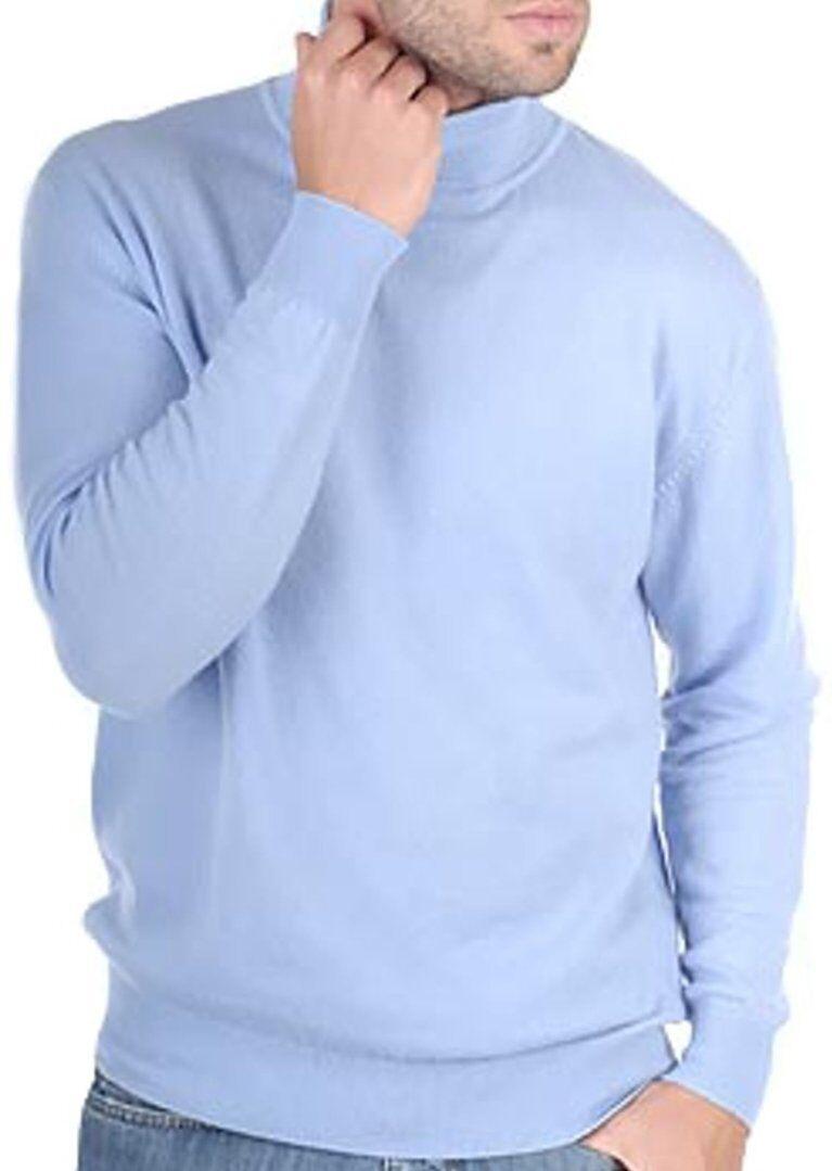 Balldiri 100% Cashmere Kashmir UOMO DOLCEVITA 2-fädig azzurro azzurro azzurro cielo M c884f5