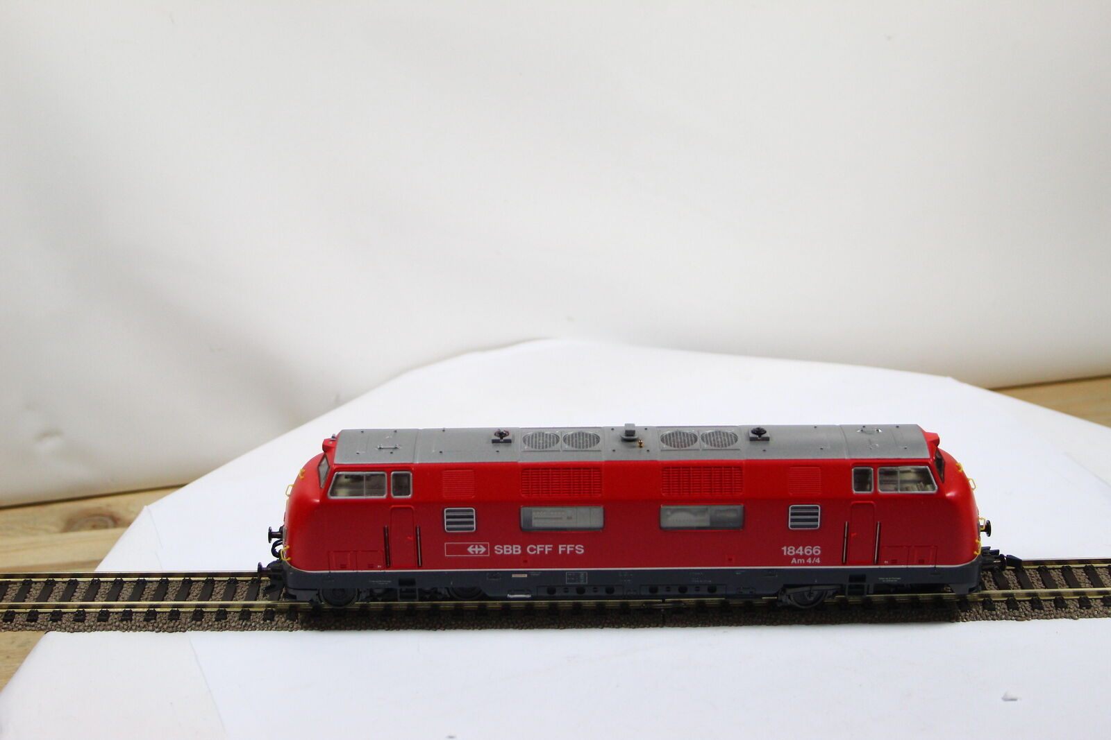 Roco Locomotora Diésel 18466 SBB   Cff   Ffs Rojo Escala H0 Pesada Lok