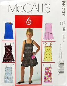 Girls-Summer-Party-Holiday-Dress-Sewing-Pattern-M4767-Size-12-14-16-McCalls