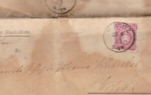 GERMAN  EARLY 1882 ENTIRE COVER ,  LETTER DOCUMENT , 10 PFENNIG STAMP,