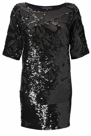 New NWT  398 French Connection Fast Fast Fast Super Sequin Dress Party Dress Size Sz 0 2 4a48f8
