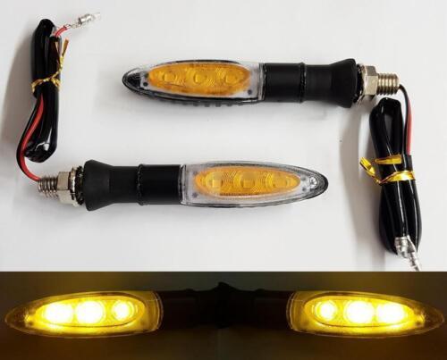 2x LED Motorrad Moto Atv Blinker Lichter Richtung Blinker Orange E1
