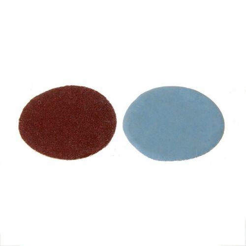 """100Pcs Mix SandPaper /& Abrasives 1/"""" Hook /& Loop Backer Plate 1//8/"""" inch Shank Set"""