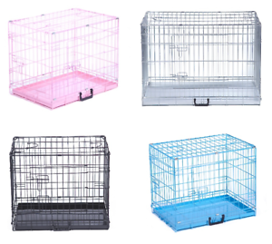 Dog-Cage-Puppy-Crates-Small-Medium-Large-Extra-Large-Pet-Carrier-Training-Cages