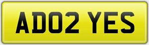 NO-HIDDEN-FEES-AD-INITIALS-NEAT-CAR-REG-NUMBER-PLATE-AD02-YES-ADAM-ALEX-AARON