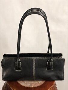 Vintage-NORDSTROM-Black-Leather-Purse-Bag