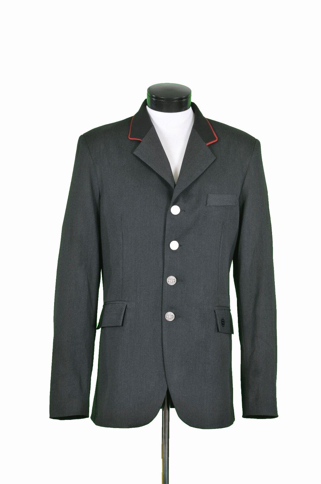Para Hombre Abrigo de caza por Renard et Cheval en gris Con Collar Negro Con Tubo Rojo R