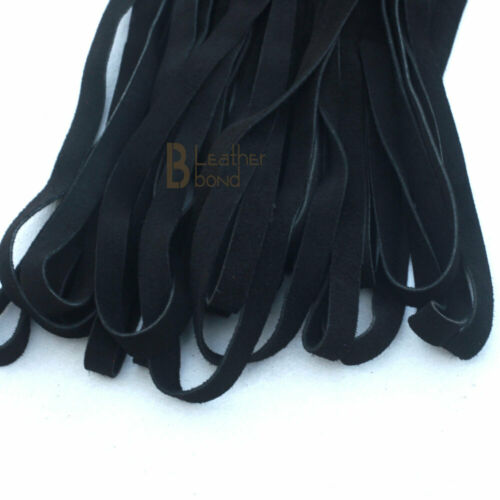 Real Genuine Cow Hide Suede Leather Flogger Whip 50 Falls Black Heavy Duty