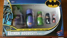 BATMAN ROGUES wood nesting dolls 5-PC JOKER,CATWOMAN,RIDDLER,PENGUIN,HARLEY QUIN