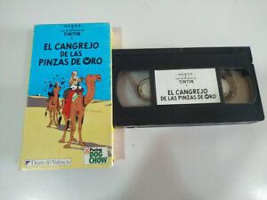 Tintin-El-Cangrejo-de-las-Pinzas-de-Oro-VHS-Cinta-Espanol-2T