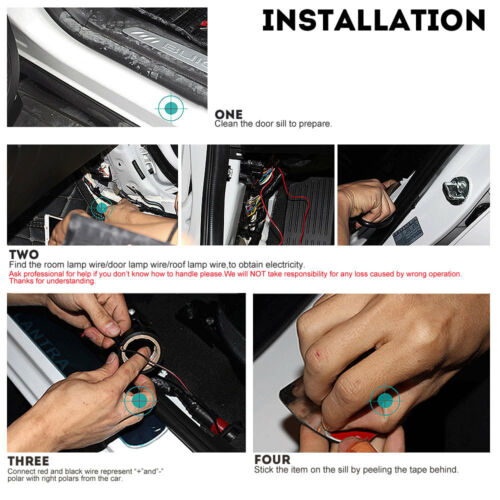 LED Door Sill scuff induction Colorful moving light For BMW 4-Series F33 14-16