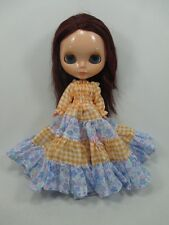 Blythe Outfit Handcrafted long sleeve dress basaak doll # 790-61
