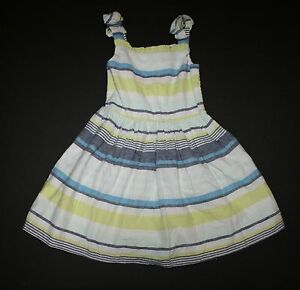 NWT Gymboree Girls Blue Safari White Textured Floral Dress Size 4 /& 5