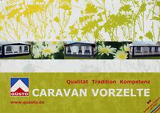 Prospekt mit Preisliste Güsto Caravan Vorzelte 2011 Katalog Wohnwagen Zubehör