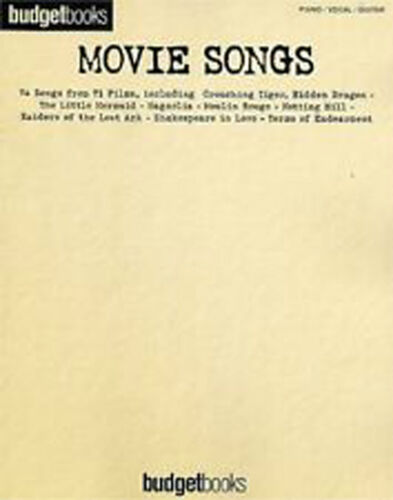 1 of 1 - Budget Books Movie Songs Piano Vocal Guitar Film Songbook B37